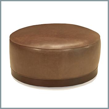 04CK Leather Ottoman