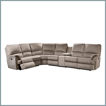 Mylaine Sectional with Cup Holders