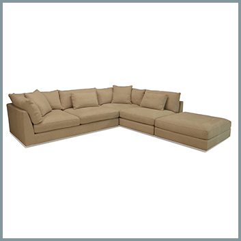 1267 Sectional with Ottoman