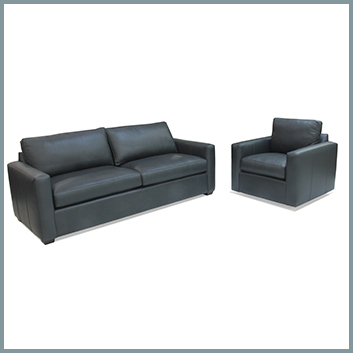 1376 Leather Sofa and Chair