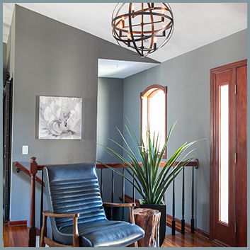 Foyer with Light Fixture